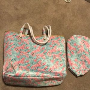 Lilly Pulitzer bag and pouch Lobstah Roll!!